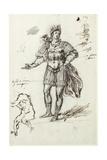 Albanactus, Preliminary Sketch Giclee Print by Inigo Jones