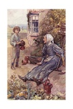 David and His Great Aunt, Frontiscpiece from 'David Copperfield' by Charles Dickens Giclee Print by William Rainey