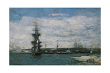 The Port of Havre, C.1864-66 Giclee Print by Eugène Boudin