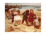 Tug of War, 1891 Giclee Print by Edward R. King