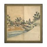 Mount Fuji and Enoshima, Edo Period, C.1825 Giclée-Druck von Katsushika Hokusai