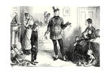 """I Am Presented to Mrs. Micawber"", Illustration from 'David Copperfield' by Charles Dickens,… Giclee Print by Frederick Barnard"