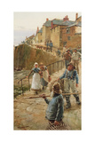 The Quayside, Newlyn Giclee Print by Walter Langley