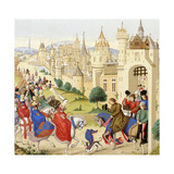 Entrance of Queen Isabeau of Bavaria into Paris, June 20, 1389, from 'Les Arts Au Moyen Age',… Giclee Print