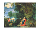 Latona and the Frogs Giclee Print by Abraham Govaerts