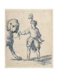 Polish Dwarf Leading a Dog Giclee Print by Inigo Jones