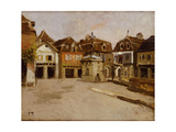 A Town Square Giclee Print by Fritz Thaulow