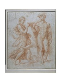 Mercury Offers the Cup of Immortality to Psyche Giclee Print by Giulio Romano