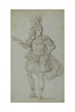 Masquer's Costume Giclee Print by Inigo Jones