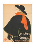 Aristide Bruant in His Cabaret, 1893 Giclee Print by Henri de Toulouse-Lautrec