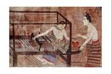 Women Weaving Giclee Print