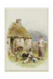 A Highland Cottage Giclee Print by Myles Birket Foster