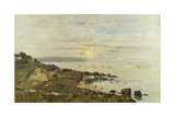 Cliffs at Benerville, Sunset, 1897 Giclee Print by Eugene Louis Boudin