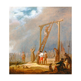 An Execution at a Gallows Giclee Print by Pieter Meulener