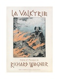 Cover of the Score of 'La Valkyrie', C.1893 Giclee Print by Eugene Grasset