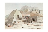 House of the King of the Sandwich Islands, at Coya (Kawaihae) at the Edge of the Sea, 1819 Giclee Print by Adrien Aime Taunay