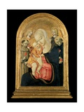 Madonna and Child with Angels, Saint Anthony of Padua and Saint Nicholas of Tolentino, Early 1470s Giclee Print by  Matteo Di Giovanni Di Bartolo