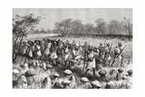 Explorer Pietro Paolo Savorgnan Di Brazza Leaving Kalasa, Zambia, from 'Africa Pintoresca',… Giclee Print