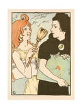 The Print and the Poster Giclee Print by Eugene Grasset