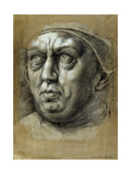 Head of Pope Leo X Giclee Print by Giulio Romano