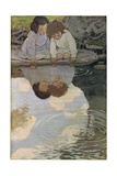 Children Looking at their Reflections, from 'A Child's Garden of Verses' by Robert Louis… Giclee Print by Jessie Willcox-Smith