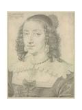 Portrait of Queen Henrietta Maria Giclee Print by Daniel Dumoustier or Dumonstier