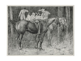Hunting Scene Giclee Print by Robert Polhill Bevan