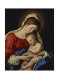 The Madonna with Sleeping Christ Child Giclée-tryk af Il Sassoferrato