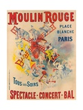 Poster Advertising the Moulin Rouge, 1891 Lámina giclée por Jose Belon