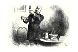 """Mr. Micawber in His Element"", Illustration from 'David Copperfield' by Charles Dickens, Engraved… Giclee Print by Frederick Barnard"