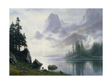 Mountain Out of the Mist Giclée-tryk af Albert Bierstadt