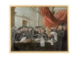 Jesuits in Conclave, Arguing over Accounts Giclee Print