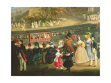 The Opening of the Naples-Portici Railway in 1839 (Detail) Giclee Print by Salvatore Fergola