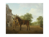 A Gentleman Holding a Saddled Horse in a Street by a Canal Giclee Print by Jacques-Laurent Agasse