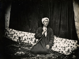 Man with Nargila, 1850s Photographic Print by Mendel John Diness
