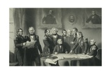 The Arctic Council, Discussing Plan to Search for Sir John Franklin, Engraved by James Scott, 1851 Giclee Print by Stephen Pearce