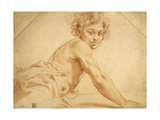 A Boy Looking over His Shoulder Giclée-tryk af Annibale Carracci