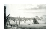 Waterloo Bridge, C.1810 Giclee Print by R. Jefferson