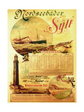 Sylt North Sea Baths', Poster Advertising the Sylt Steamship Company, 1893 Giclee Print by German School