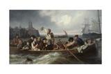 The Emigrants' Departure, Berlin 1860 Giclée-Druck von Antonie Volkmar