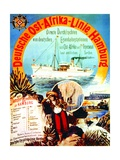 Poster Advertising the German East Africa Line, Hamburg, 1895 Giclee Print by German School