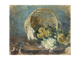 Chrysanthemums or the Overturned Basket, 1885 Giclee Print by Berthe Morisot