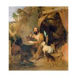 Robinson Crusoe, 1827 Giclee Print by Edwin Henry Landseer