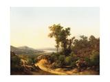 Trasimeno: a View of Lake Trasimeno, Italy, 1874 Giclee Print by Guido Agostini