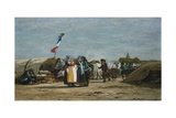 Pilgrimage in Finistere, Brittany Giclee Print by Eugène Boudin