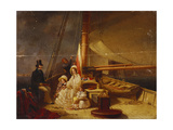 The Yacht 'The Guernsey' with Her Owner and His Family and Crew Aboard Giclee Print by Nicholas Condy