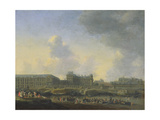 View of the River Seine, the Louvre and the Palais Bourbon, C.1655 Giclee Print by Reinier Zeeman