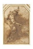 Study for an 'Allegory of Justice' Giclée-tryk af Salvator Rosa