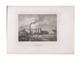 View of the Royal Iron Works in Chorzow, Silesia, Poland, 1842 Giclee Print by C. Reiss