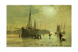 The Lighthouse at Scarborough, 1877 Giclee Print by John Atkinson Grimshaw